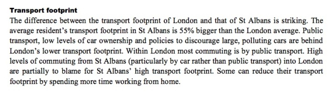 SATransport ecological footprint