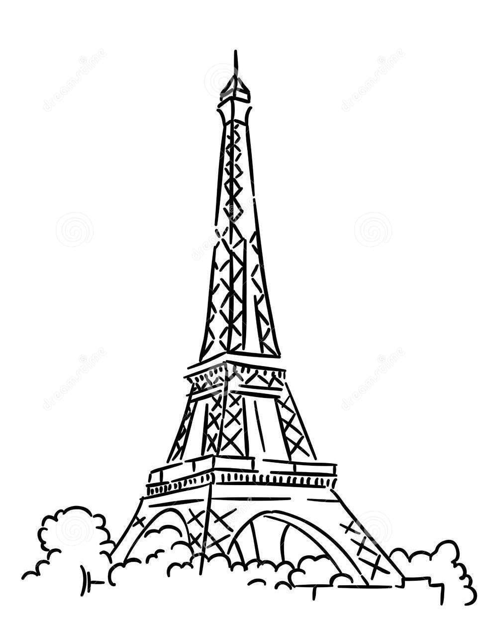 Eiffel Tower Coloring Pages Sustainable St Albans