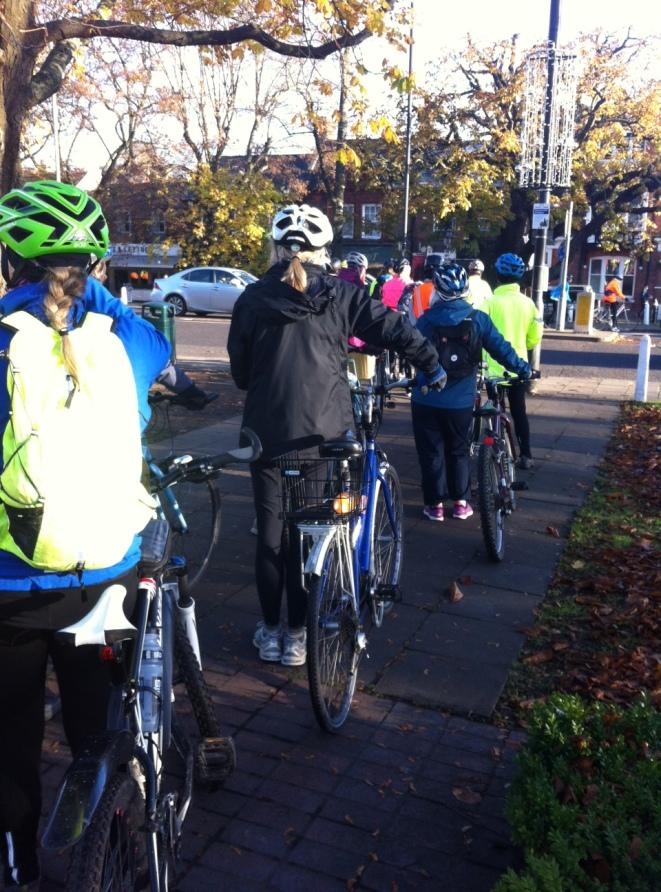 womens' bike ride