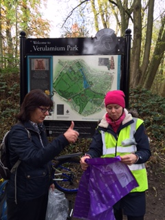 Litter picking in Verulalmium Park