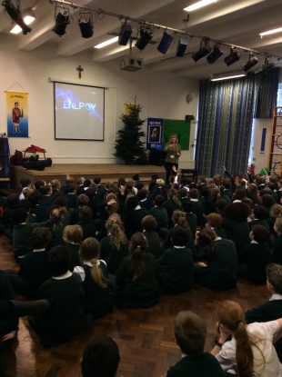 St Alban and St Stephens assembly on Sustainable StAlbans Week