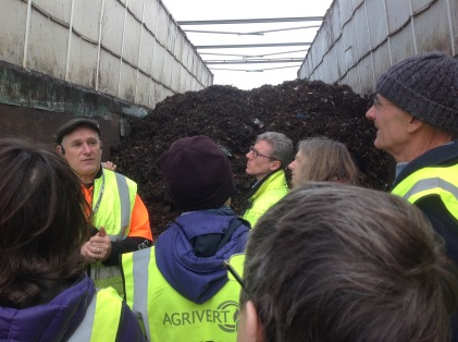 Inside a compost tunnel at Agrivert
