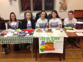 Dragons' Apprentice making Vegan Cakes for sale