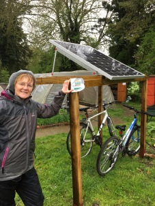 bikes, solar foodgrowing