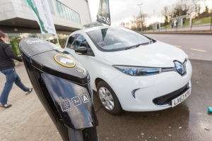 University of Hertfordshire e-car club launch at the Forum, College Lane