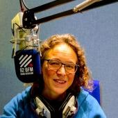 multi 68 Amanda behind mic