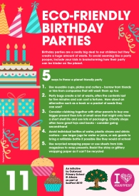 11. Eco-friendly parties