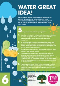 6. Water great idea!