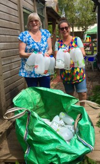 Old London Road Preschool collecting bottles