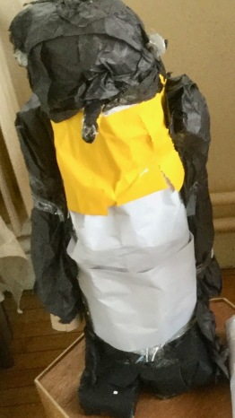 Penguin from recycled materials