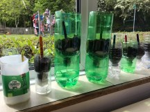 Growing using recycled materials