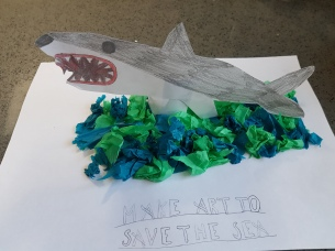 Callum age 8 and shark art