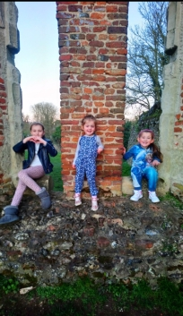"""Eva said: """"We decided to take a trip to the Roman Nunnery on Cottonmill Lane. Me and my sister's loved playing hide and seek, taking pictures and just having fun together in something that is so old."""""""